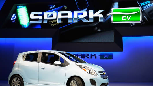 The 2014 Chevy Spark EV electric vehicle