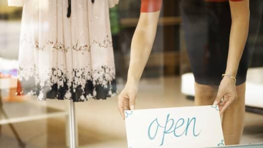 Small business entrepreneur retail clothing