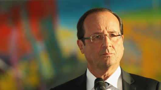 French President Francois Hollande