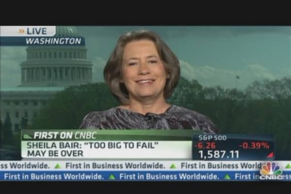Bair: 'Too Big to Fail' May Be Over