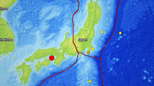 A 6.3 magnitude earthquake hit western Japan early on Saturday.