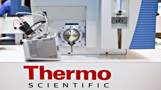 Thermo Fisher is an American precision healthcare equipment company.
