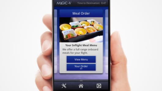 Japan Airlines' Anytime You Wish Meal Ordering app.