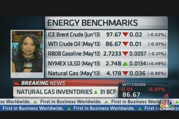 Natural Gas Inventories Up 31 BCF