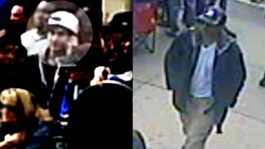 The FBI release photos of the suspected Boston Marathon bombings.