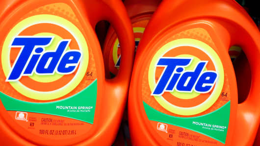 Tide is one of many Procter & Gamble products.