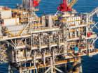 A natural gas production platform.