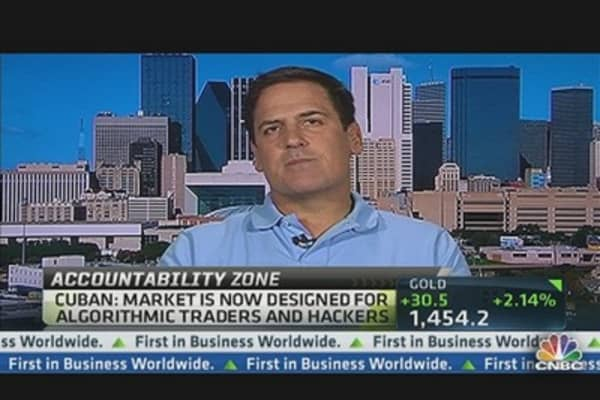 Get HFT Genie Back In the Bottle: Mark Cuban
