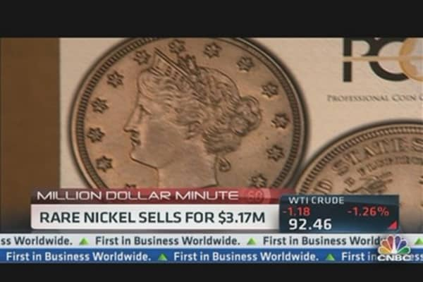 Rare Nickel Sells For $3.17 Million