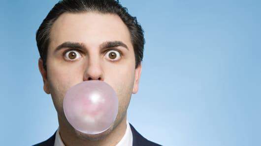 businessman gum