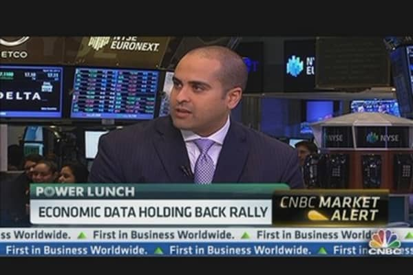 Economic Data Holding Back Rally