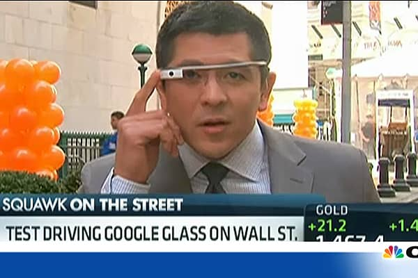 Test Driving Google Glass on Wall Street