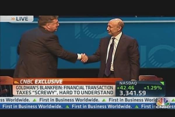 Goldman's Blankfein on Financial Crisis Legacy