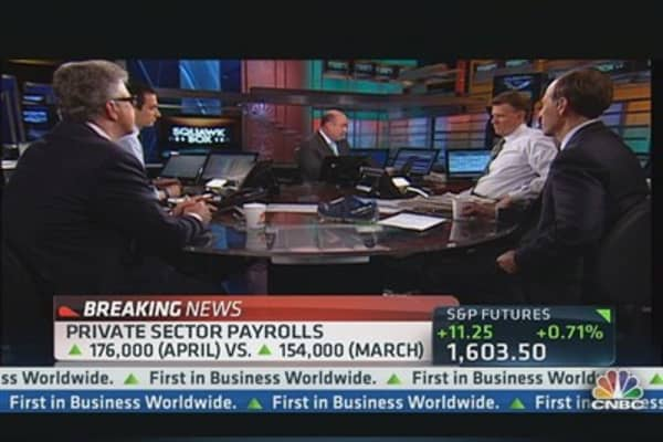 April Non-Farm Payrolls Up 165,000