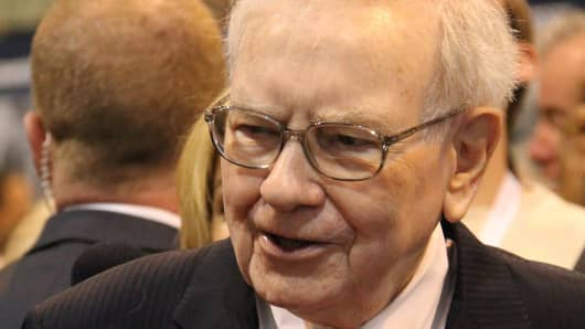 Warren Buffett at Berkshire Hathaway's 2013 shareholders meeting in Omaha, Neb.