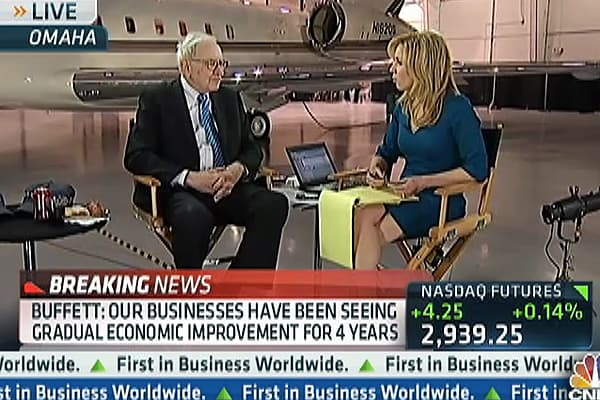 Warren Buffett: Stocks Will Go a 'Lot Higher' Over Time