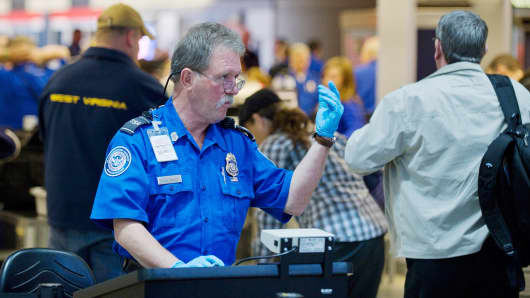 TSA agent at Pittsburgh International Airport.