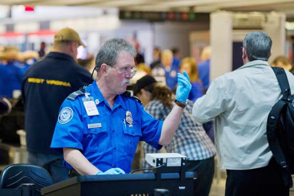 TSA agent at Pittsburgh International Airport.