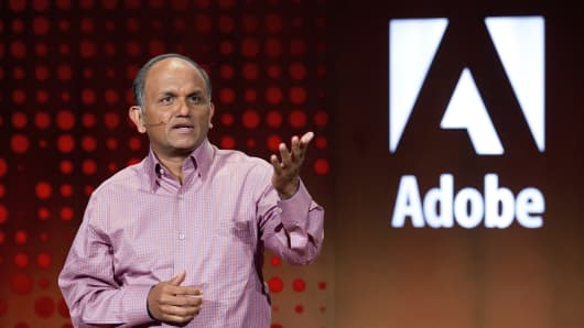 Shantanu Narayen, president and chief executive officer of Adobe Systems