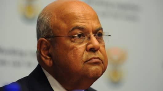 South African Minister of Finance Pravin Gordhan