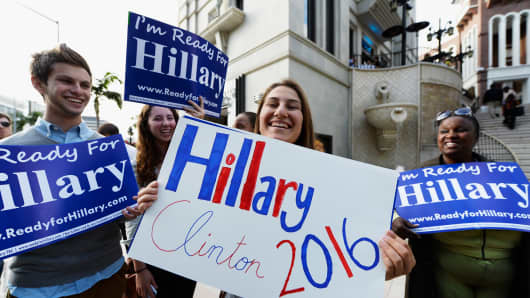 Clinton's supporters are urging her to run for president in 2016.