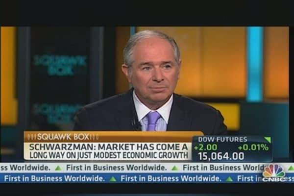 Why Blackstone's Schwarzman Is Not QE Concerned
