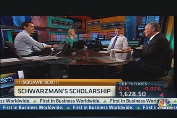 Schwarzman Starts a $300M China Scholarship
