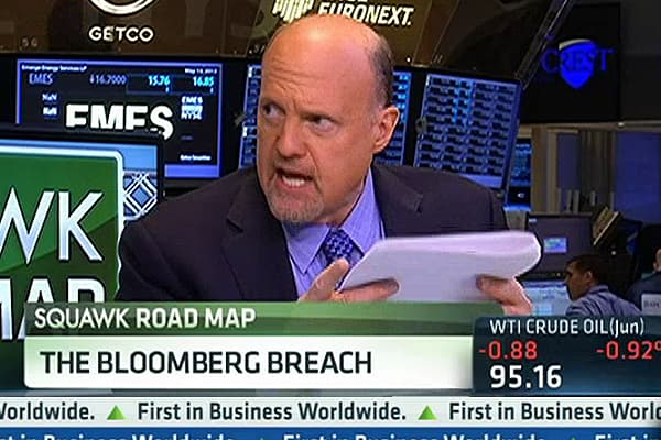 Cramer: Wall Street Will Stick With Bloomberg