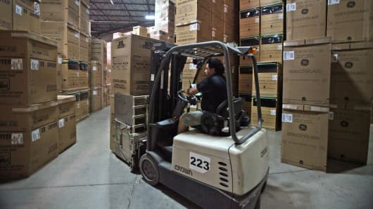 Manufacturing warehouse inventory