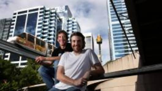 Scott Farquhar and Mike Cannon-Brookes, co-founders of Atlassian