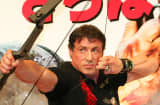 Actor Sylvester Stallone poses during a photocall for the movie 'Rambo'