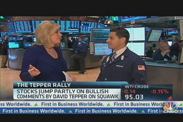 Markets Jump, 'Squawk' Interview With Tepper Credited
