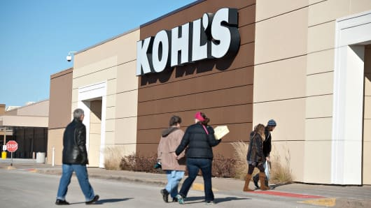 Shoppers enter a Kohl's Corp. store in Peoria, Illinois, U.S.,