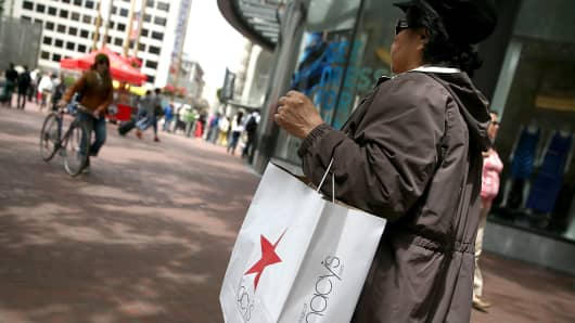 Consumer sentiment shopping retail Macy's