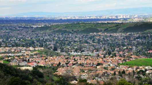 Silicon Valley encompasses all of the Santa Clara Valley, including the San Jose (pictured).