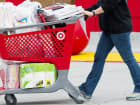 A customer exits a Target Corp. store in Colma, California, U.S.