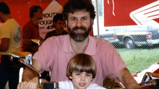 David Karp with his father, Michael.