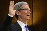 Tim Cook is sworn in at a Senate hearing about the company's offshore profit shifting and tax avoidance.