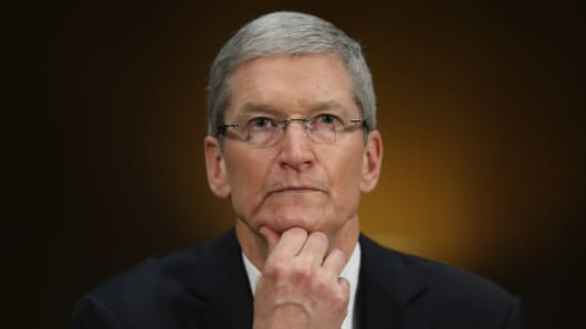 Apple CEO, Tim Cook, testifies before the Senate Homeland Security and Governmental Affairs Committee's Investigations Subcommittee.