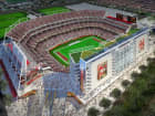 A rendering of the San Francisco 49ers' stadium in Santa Clara, Calif., by HNTB