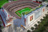 A rendering of the San Francisco 49ers&#039; stadium in Santa Clara, Calif., by HNTB