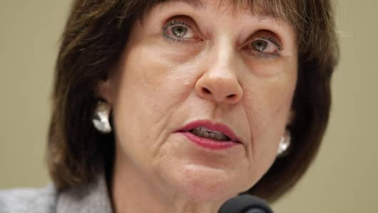 The IRS' Lois Lerner speaks before refusing to testify at a House hearing on May 22, 2013.