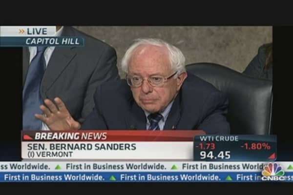 Sen. Sanders: Prohibit Interest on Excessive Reserves?