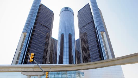 General Motors headquarters in Detroit, Michigan.