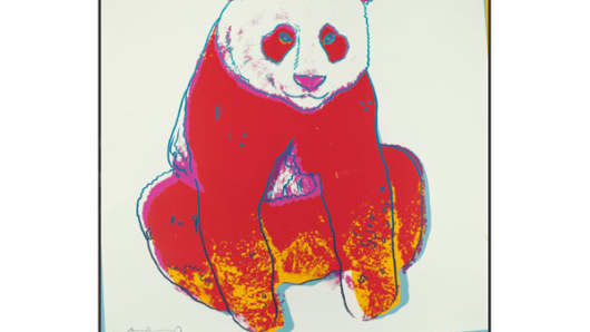 "A print from the 1983 collection of ten prints entitled ""Endangered Species"""