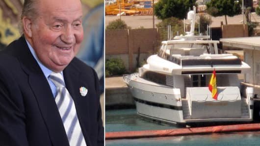 King Juan Carlos I of Spain has decided to give up his yacht as Spain faces recession.