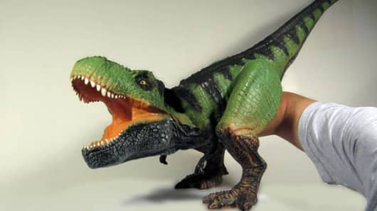 Dinosaur puppet from Puppetoys