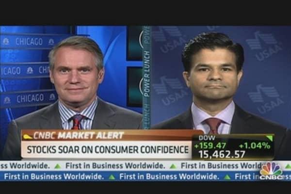 Stocks Soar on Consumer Confidence
