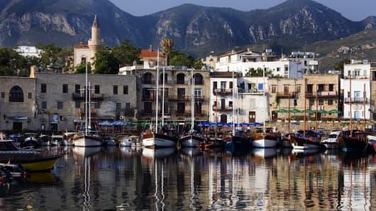 Cyprus, harbor at Kyrenia.