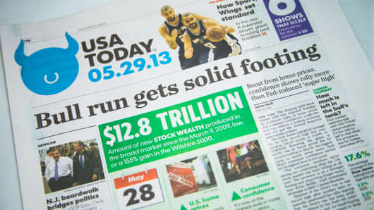 USA Today Bull Runs headline